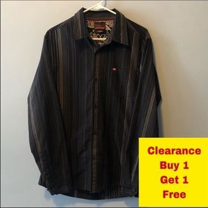 Quicksilver Button Down Shirt Size Large Neck 17